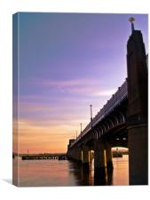 The Kincardine Bridge At Dusk, Canvas Print