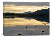 Silence on Lake Of Menteith, Canvas Print