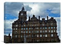 Balmoral Hotel, Edinburgh In Scotland., Canvas Print