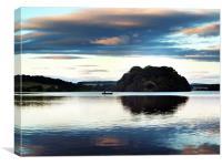 Trout Fishing On Gartmorn Dam, Scotland., Canvas Print