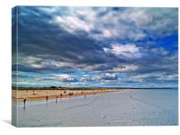 Summer Clouds At St.Andrews Beach, Scotland., Canvas Print