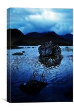 Rannoch Moor Blues, Canvas Print