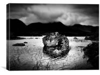 Rocks In Rannoch Moor Lochs, Canvas Print