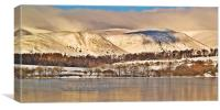 Snow Over The Ochil Hills, Scotland., Canvas Print
