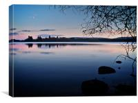 Reflections On Lake Mentieth Scotland, Canvas Print