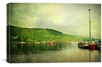 Harbour Life In Ullapool, Scotland., Canvas Print