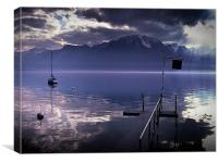 Ripples on Lake Geneva, Switzerland., Canvas Print