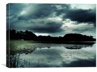 Evening Approaching Lake Of Menteith,Scotland, Canvas Print