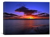 Days End Over The River Forth, Canvas Print