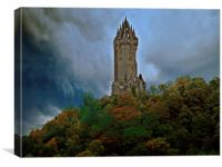The Wallace Monument, Scotland, Canvas Print
