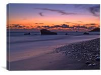Sunset Over Aphrodite's Beach, Canvas Print