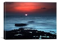 Falling Sun, Canvas Print