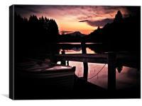 Loch Ard, Spring Sunset 1, Canvas Print