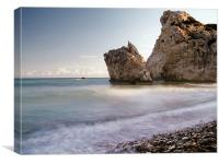 Aphrodites Rock,Cyprus, Canvas Print