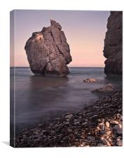 Evening sun on Aphrodite's Rock, Canvas Print