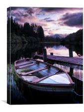 Loch Ard Summers Evening., Canvas Print
