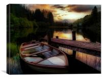 Summer Sunset, Loch Ard, Canvas Print