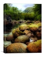 River Etive In The Highlands, Canvas Print
