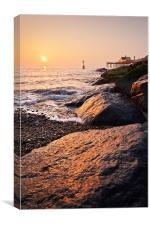 Sunrise On the rocks, Canvas Print