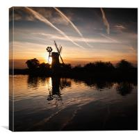 Sunset at Turf Fen, Canvas Print
