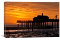 Sunrise over Southwold Pier, Canvas Print