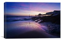 Blue dawn over Southwold Pier