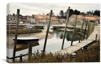 Quayside at Blakeney, Canvas Print