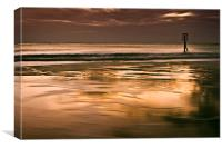 Beacon on Gorleston Beach, Canvas Print