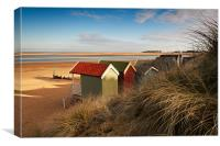 Beach Hut view, Canvas Print