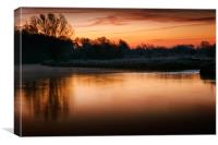 Cold Sunrise at Coltishall, Canvas Print