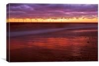 Dawn over Turbines at Caister, Norfolk, Canvas Print