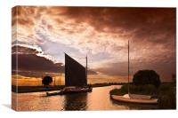 The Norfolk Wherry, Canvas Print