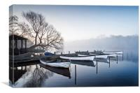 Boats on the Eels Foot at Ormesby Little Broad, Canvas Print