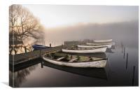 Boats at the Eels Foot, Canvas Print