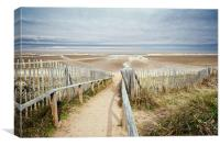Slope to Holkham Beach, Canvas Print