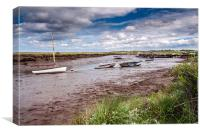 Looking back to Morston, Canvas Print