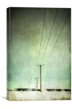 Power lines, Canvas Print