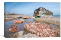 Pill Box at Caister, Canvas Print