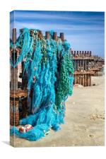 Caister Fishing Nets, Canvas Print