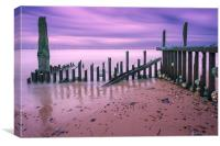 Caister Beach at Dawn, Canvas Print