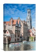 Belfry Clock Tower Bruges, Canvas Print