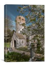 Burgh Castle Church, Canvas Print
