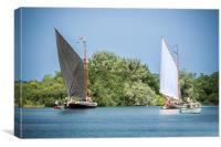 Two Norfolk Wherries, Canvas Print
