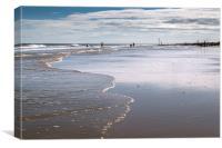 Wet sands, Canvas Print
