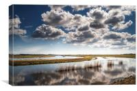 River Bure on the Norfolk Broads, Canvas Print