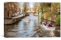 Bruges Canal, Canvas Print