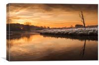River Bure at Coltishall, Canvas Print