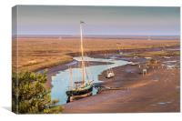 Moored at Blakeney, Canvas Print