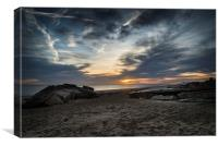 Sunrise over Lifeboat Shed, Canvas Print