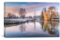 River Bure at Coltishall, Canvas Print